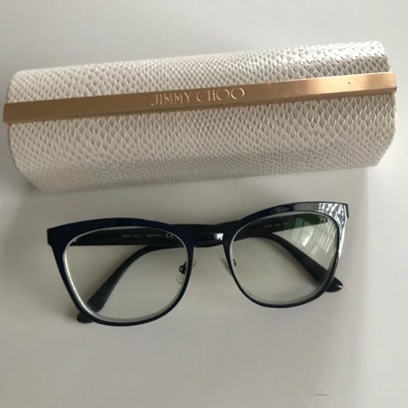 cba9b533e51d Jimmy Choo Accessories - Jimmy Choo JC 189 Blue Glitter cat-eye glasses